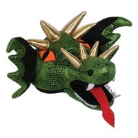 Club Pack of 6 Green Fire Breathing Plush Dragon Hat Costume Accessories