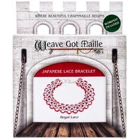 Chainmaile Bracelet Jewelry Kit-Regal Lace/Red