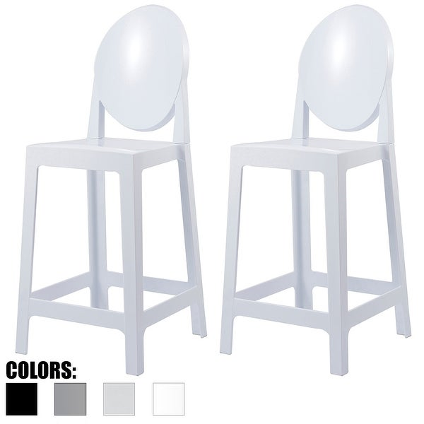 Shop 2xhome Set Of 2 White Counter 25 Seat Height Stool For Kitchen