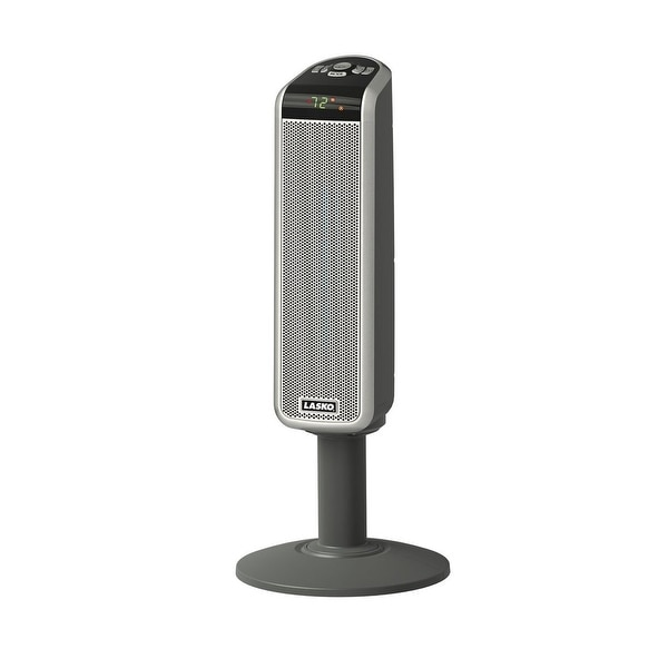 Lasko 5397 Digital Ceramic Pedestal Heater With Remote, 1500 Watts
