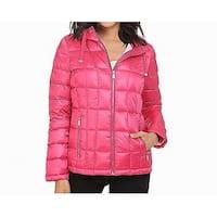 Calvin Klein Hibiscus Pink Womens Size XL Packable Short Jacket