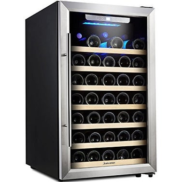 Kalamera Wine Cooler 50 Bottle Single Zone Refrigerator with Digital Temperature Display
