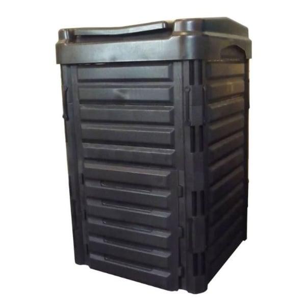 Heavy Duty Black Plastic Compost Bin for Home Garden Composting 80-Gallon