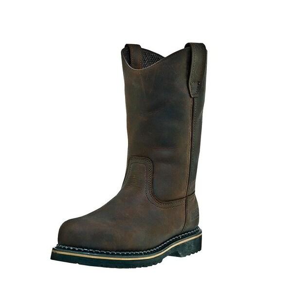 McRae Industrial Work Boots Mens Wellington Ruff Rider Brown