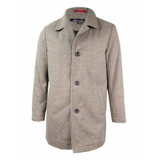 Kenneth Cole Men's Wool-Blend Tweed Walker Coat (M, Tan) - Tan - M
