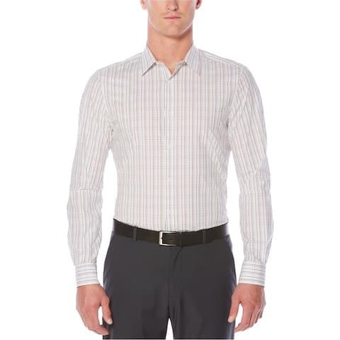 Perry Ellis Mens Check Button Up Shirt