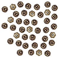 TierraCast Brass Oxide Finish Pewter Beaded Spacer Beads 3x3mm (50)