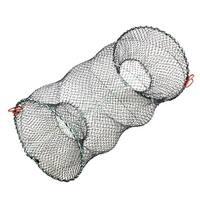 "Unique Bargains 12.2"" x 22.4"" Portable Fishing Landing Net Fish Angler Mesh Keepnet for Fishermen Black Green"