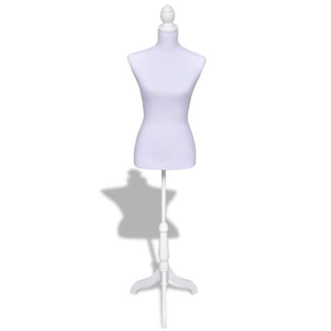 Lady Mannequin Bust Window Torso Dress Form Display Black/White w/ Tripod Stand