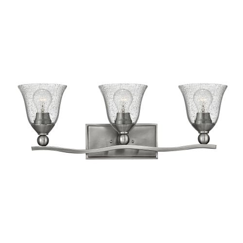 Hinkley Lighting 5893-CL 3 Light Bathroom Fixture from the Bolla Collection