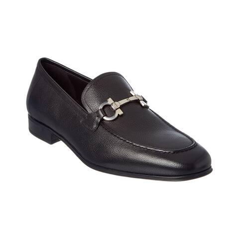 Salvatore Ferragamo Flori Gancio Bit Leather Loafer
