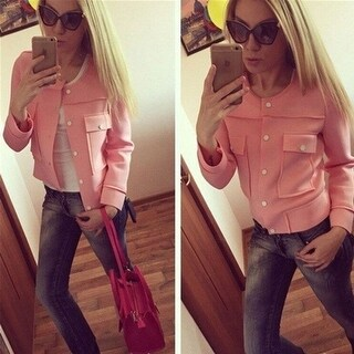 Fashion Women Ladies Casual Loose Solid Color Short Blazer Jacket Coat Tops New