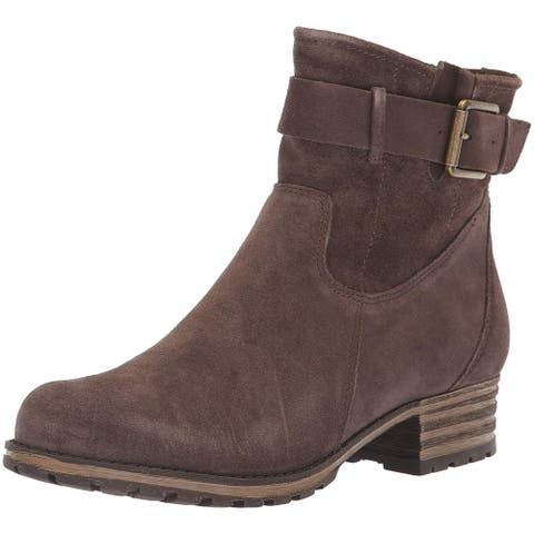 Clarks Womens Marana Leather Almond Toe Ankle Fashion Boots
