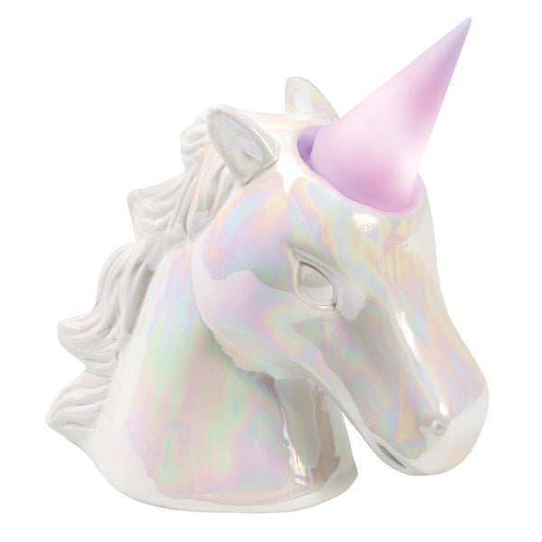 What on Earth Unicorn Night Light Coin Bank - Removable Color-Changing LED Lighted Horn - 8 in. x 4.13 in. x 8.5 in.