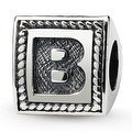 Sterling Silver Reflections Letter B Triangle Block Bead (4mm Diameter Hole) - Thumbnail 0