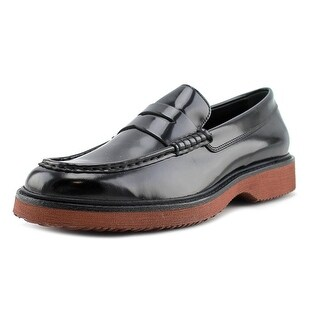 Hogan H217 Route Derby Bucature Men Round Toe Leather Black Oxford