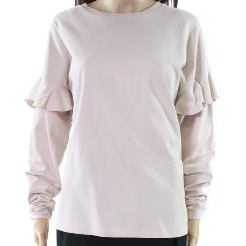Lauren By Ralph Lauren Women's Pink Size Small S Ruffle Trim Blouse