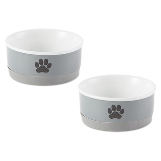 Link to DII Pet Bowl Black Paw Print Gray Small 4.25dx2h (Set of 2) Similar Items in Dog Feeders & Waterers