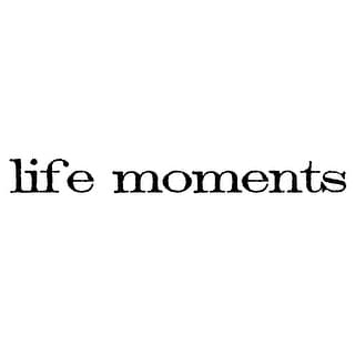 "Tim Holtz Mounted Red Rubber Stamp .75""X2.5""-Life Moments"