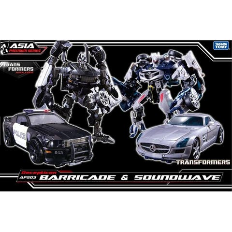 Transformers Asia Exclusive APS-03 Decepticon Barricade & Soundwave Two Pack - Multi