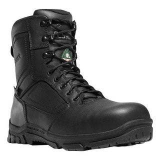 "Danner Men's Lookout EMS Side-Zip 8"" NMT Work Boot Black Leather/Ripstop Nylon"