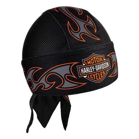 Harley-Davidson Men's Tribal Bar & Shield Air Flow Mesh Headwrap, Black HW18930 - One size