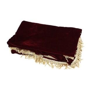 Tassels Trim Anti Dust Burgundy Velvet Piano Full Size All Cover 1.9Mx1.4M
