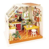 Robotime DIY Miniature Kitchen Model Kit - MultiColor