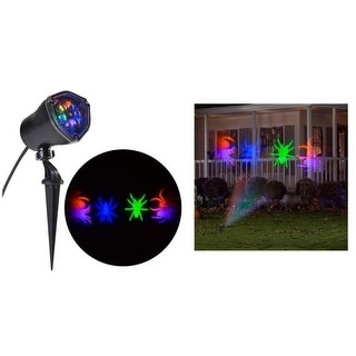 Halloween LED Lightshow Projection: Whirl-A-Motion Spiders (OGPB)