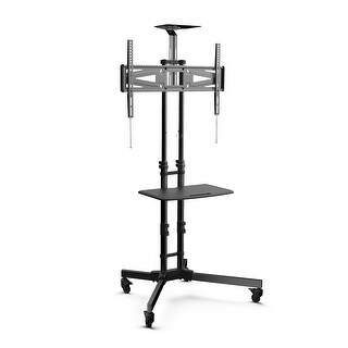 Loctek P3B Mobile TV Stand TV Cart with Height Adjustable shelf - Fits 32 to 65 inches TVs with Max VESA size 600x400mm