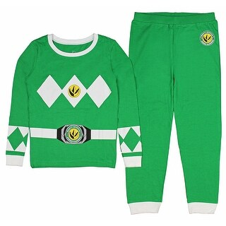 Intimo Kids Mighty Morphin Power Rangers Power Coin Emblem Costume Pajama Set