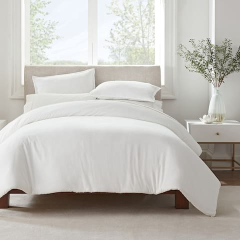 Serta Simply Clean Antimicrobial 3 Piece Duvet Set