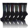 Twill Weave Mens Cotton Crew Dress Socks, Designed Color Socks (Size 10-13) - Thumbnail 0