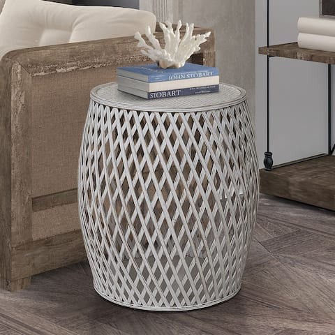 Bora Bora Contemporary Criss-Cross Side Table