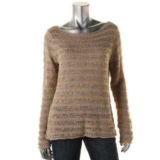 Lauren Ralph Lauren Womens Linen Open Stitch Sweater