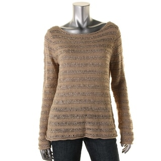 Lauren Ralph Lauren Womens Sweater Linen Open Stitch