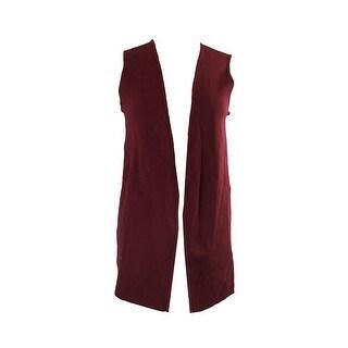 Charter Club Burgundy Sleeveless Knit Vest M