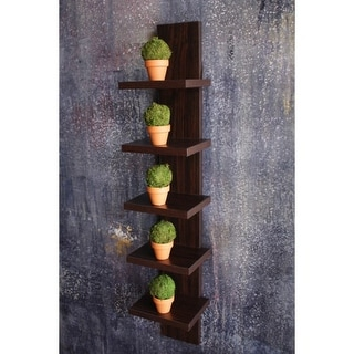 Danya B QBA486 30 Inch Tall 5 Tier Wall Shelf