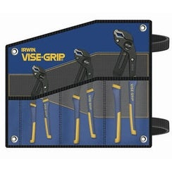 IRWIN VISE-GRIP 2078711 Groovelock Pliers Set With Kit Bag, 3Pc