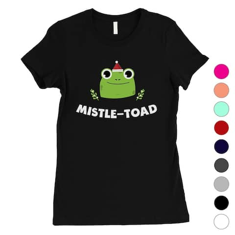 Mistle Toad Funny Holiday Womens Shirt X-mas Gift
