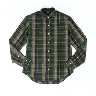 Polo Ralph Lauren NEW Green Mens Size Large L Button Down Shirt