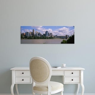 Easy Art Prints Panoramic Images's 'Buildings at the waterfront, Cincinnati, Hamilton county, Ohio, USA' Canvas Art