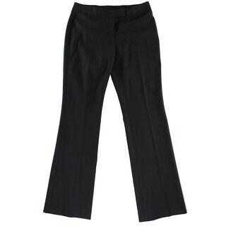 Anne Klein NEW Solid Deep Black Women's Size 14 Bootcut Dress Pants
