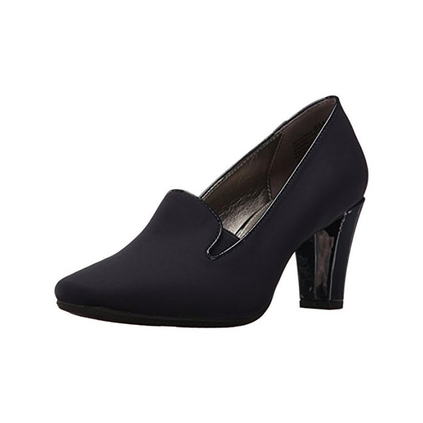 Bandolino Womens Vavara Loafer Heels Square Toe Tailored