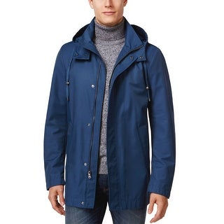 Ralph Lauren Waterproof Hooded Raincoat Marine Blue 48 Regular 48R