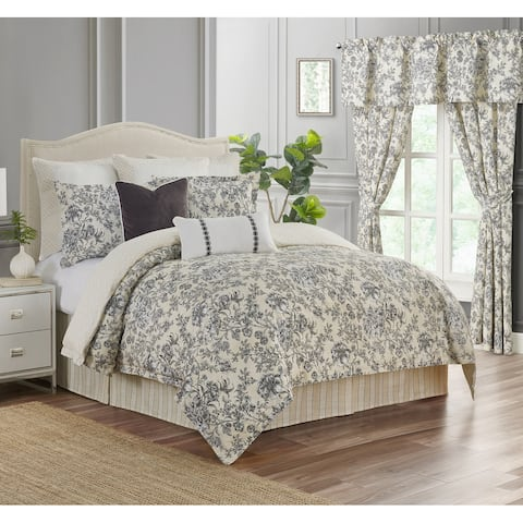4-piece Aleah Floral Comforter Set