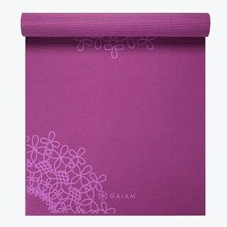 GAIAM Premium Medallion Printed Yoga Mats (4MM) Purple