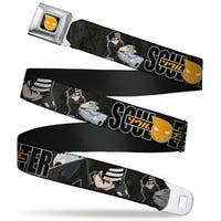 Soul Eater Logo Full Color Black Orange Soul Eater Death The Kid 2 Poses Seatbelt Belt