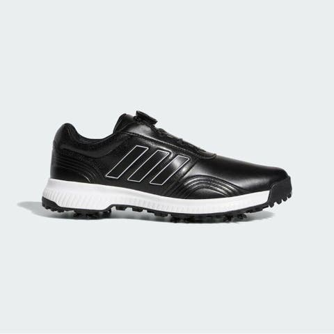 New Adidas CP Traxion BOA Golf Shoes Core Black/White/Silver Met. F34199 (MED)