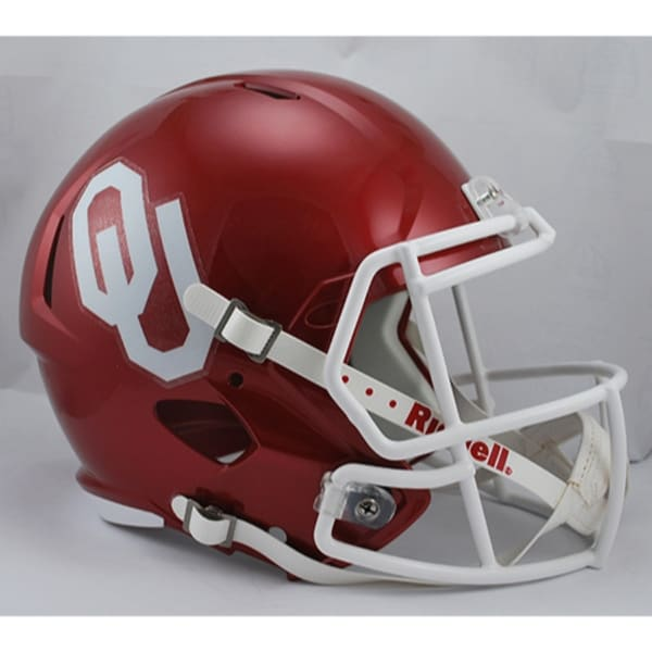 4ea1676c6 Shop Oklahoma Sooners Helmet Riddell Replica Full Size Speed Style - Free  Shipping Today - Overstock.com - 22204034